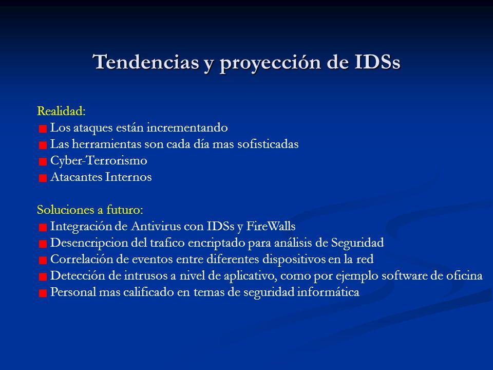 Tendencias y proyección de IDSs