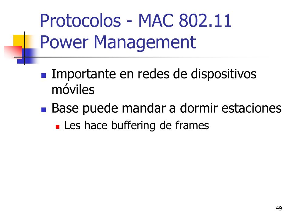 Protocolos - MAC 802.11 Power Management