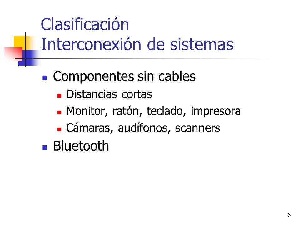 Clasificación Interconexión de sistemas