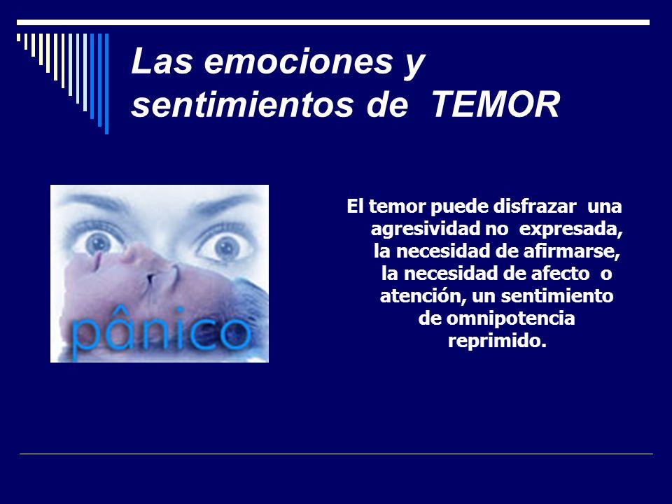 Las emociones y sentimientos de TEMOR
