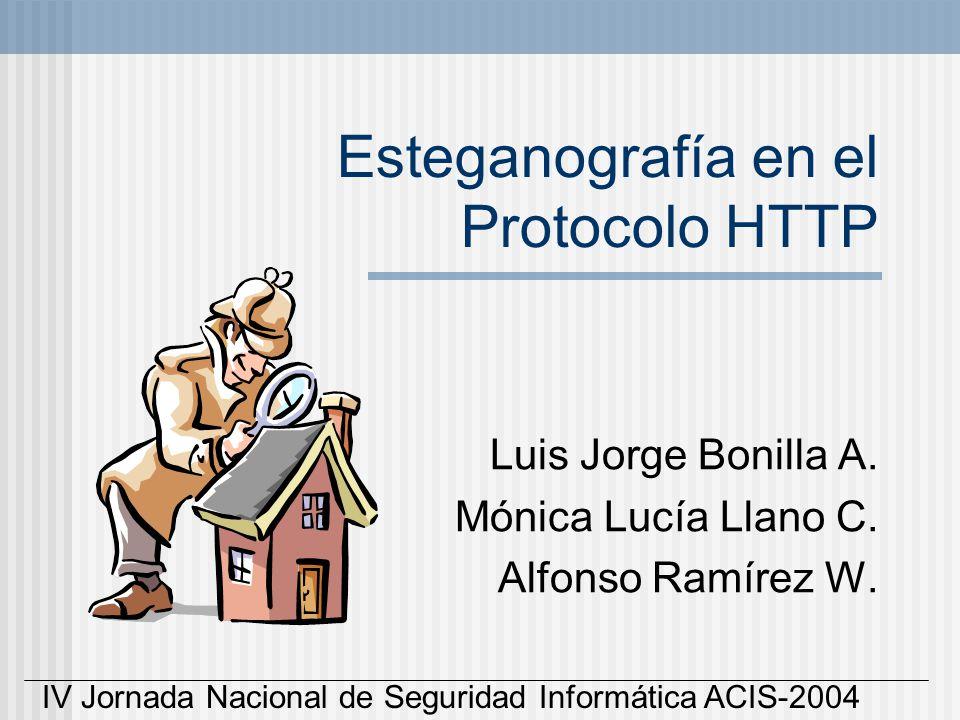 Esteganografía en el Protocolo HTTP