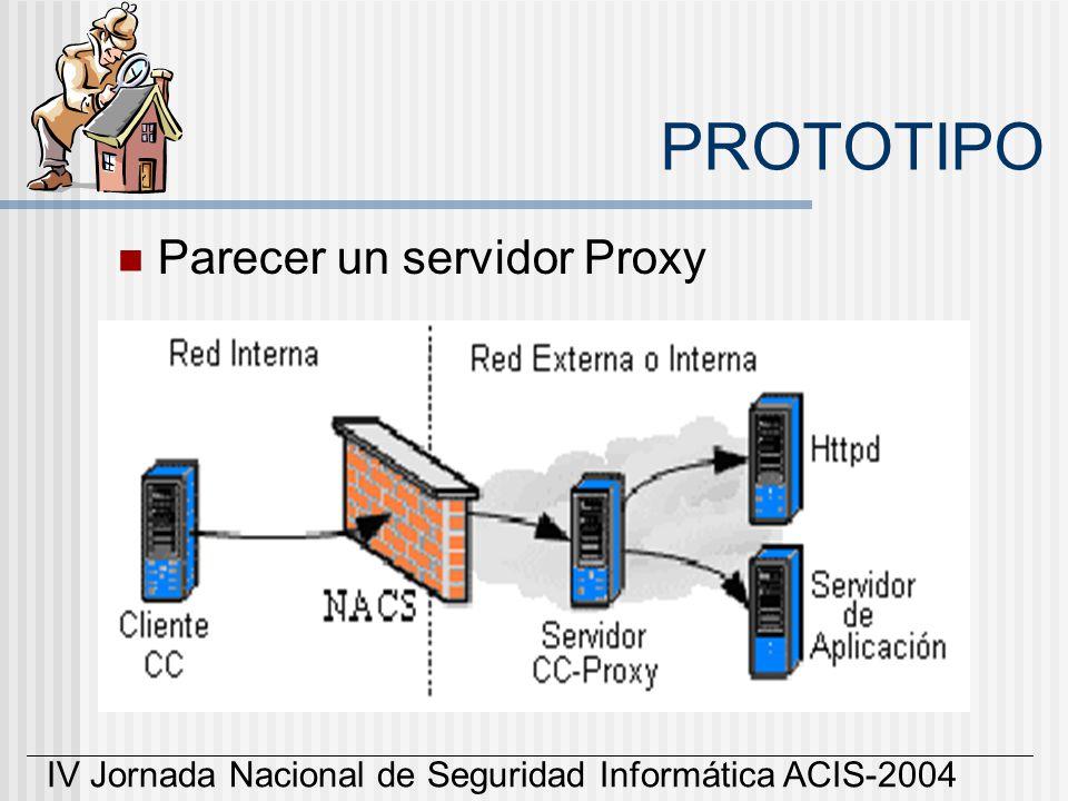 PROTOTIPO Parecer un servidor Proxy