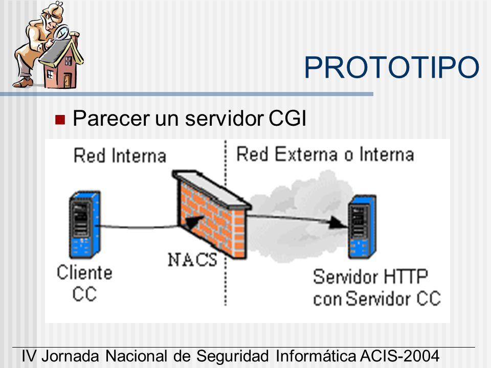PROTOTIPO Parecer un servidor CGI
