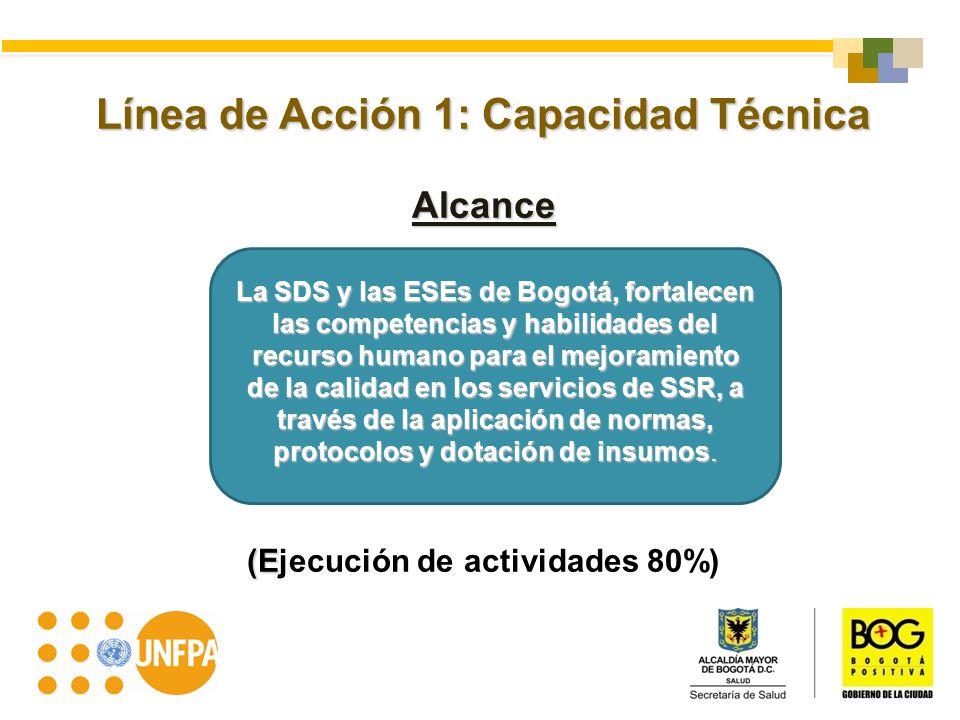 Línea de Acción 1: Capacidad Técnica (Ejecución de actividades 80%)