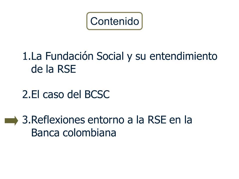 Contenido La Fundación Social y su entendimiento de la RSE.
