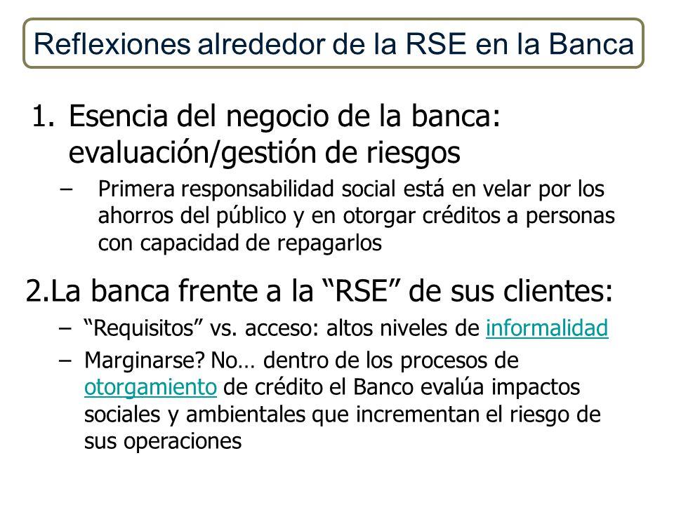 Reflexiones alrededor de la RSE en la Banca