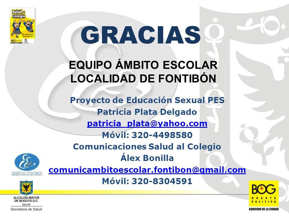 EQUIPO ÁMBITO ESCOLAR LOCALIDAD DE FONTIBÓN