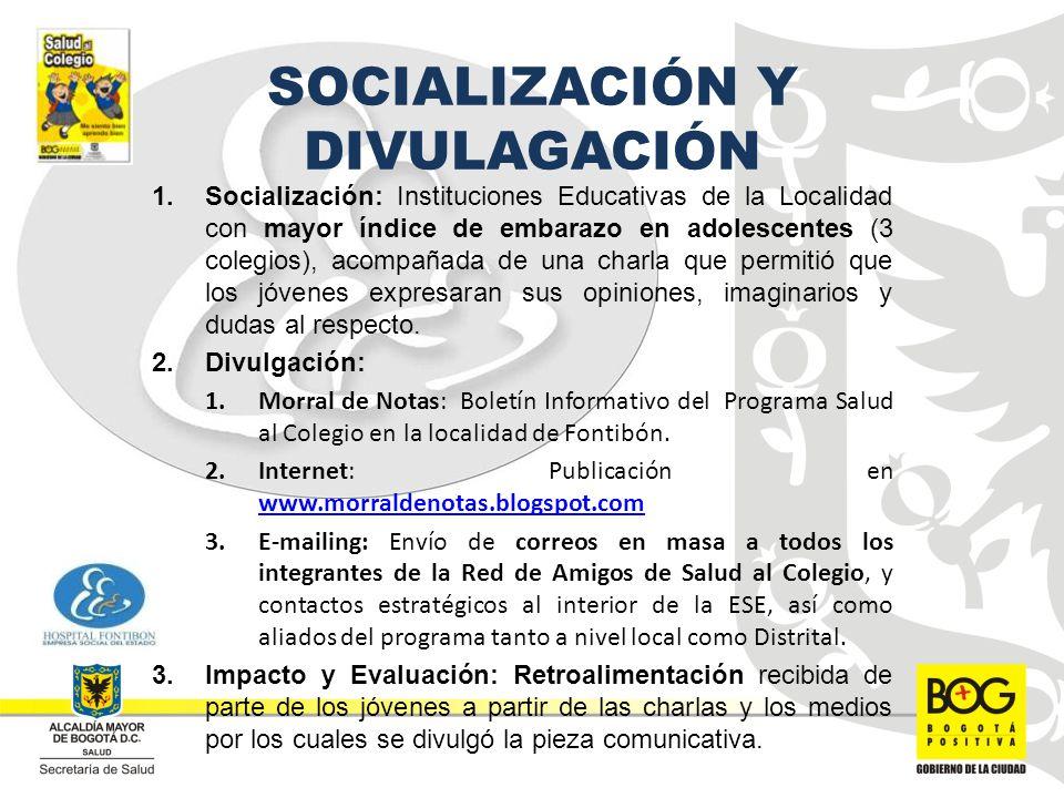 SOCIALIZACIÓN Y DIVULAGACIÓN