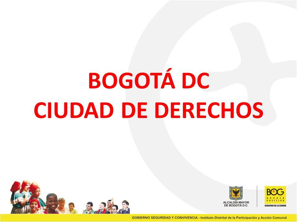 BOGOTÁ DC CIUDAD DE DERECHOS