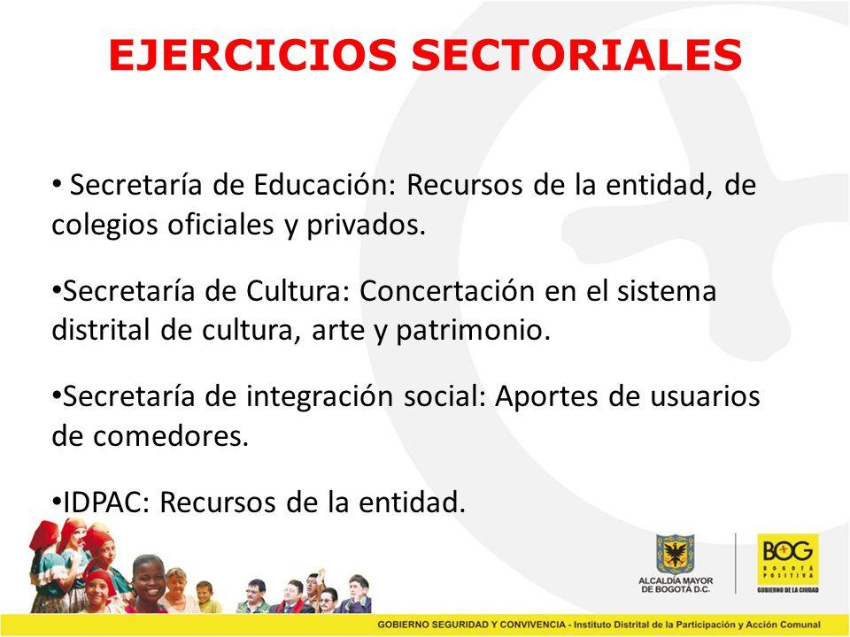 EJERCICIOS SECTORIALES