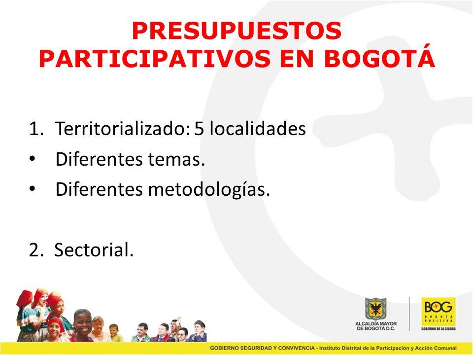 PRESUPUESTOS PARTICIPATIVOS EN BOGOTÁ