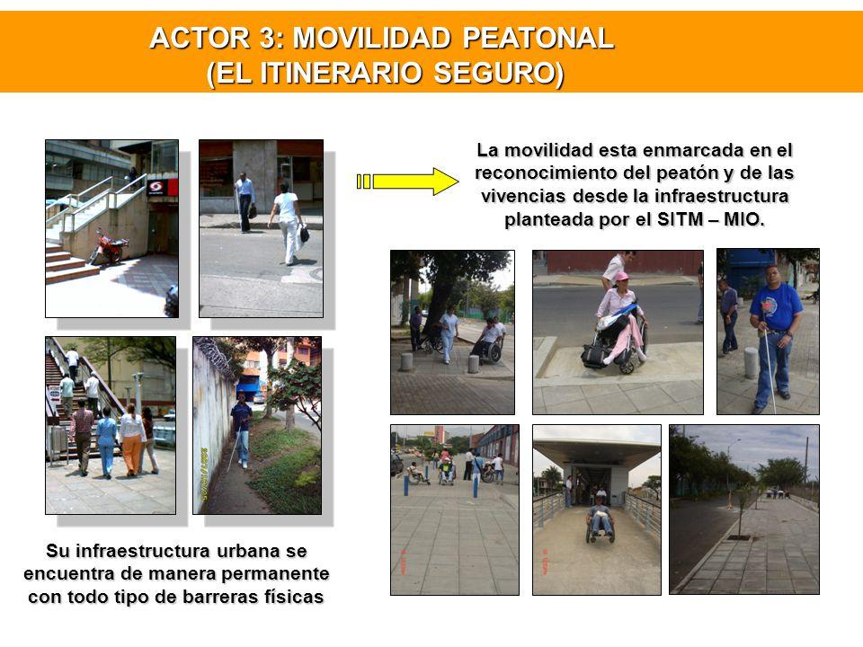 ACTOR 3: MOVILIDAD PEATONAL (EL ITINERARIO SEGURO)
