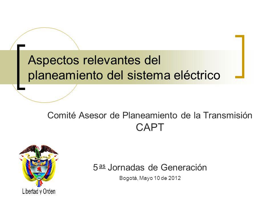 Aspectos relevantes del planeamiento del sistema eléctrico