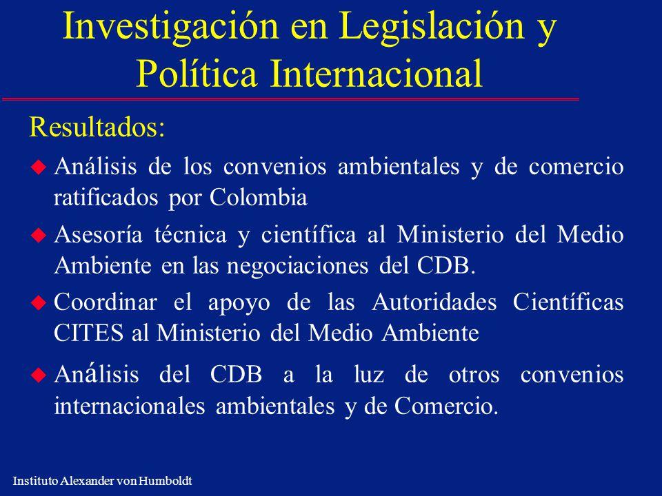 Investigación en Legislación y Política Internacional