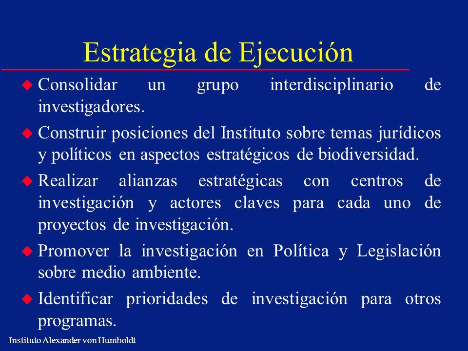 Estrategia de Ejecución