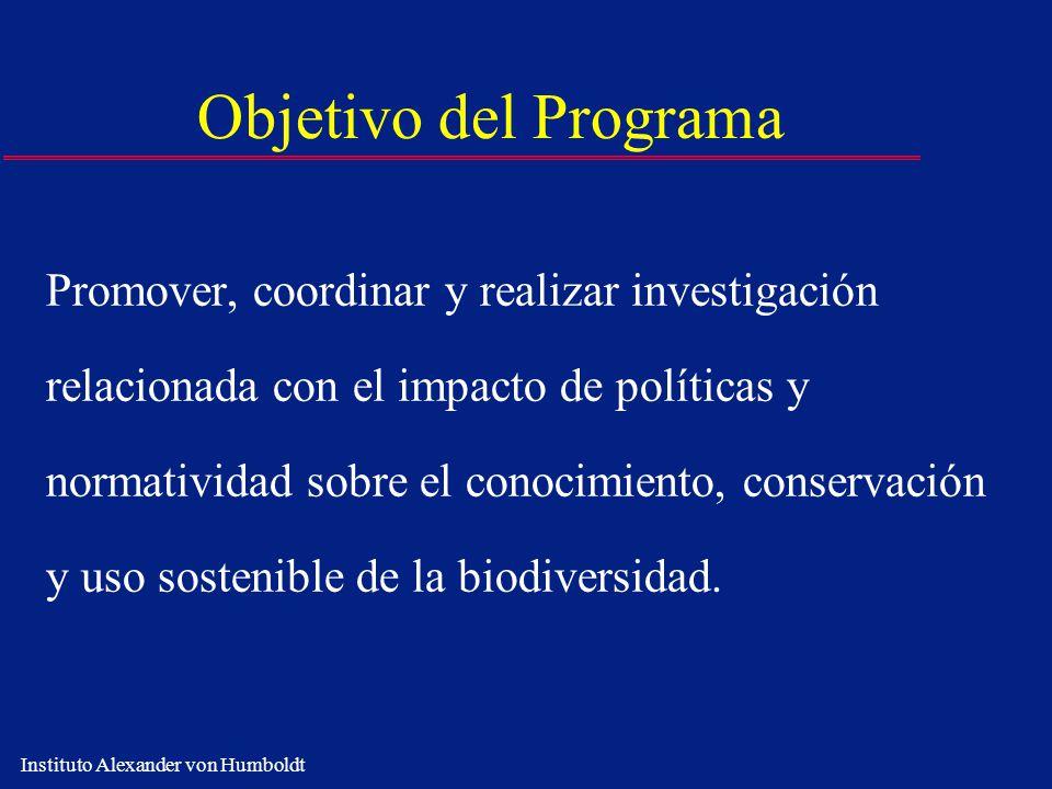 Objetivo del Programa Promover, coordinar y realizar investigación