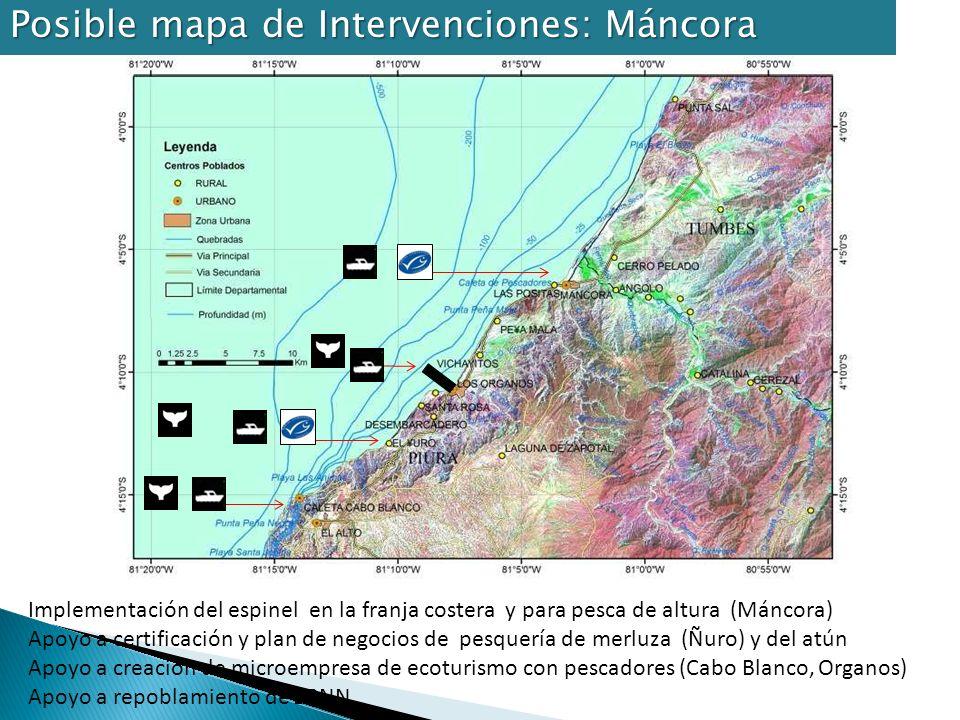 Posible mapa de Intervenciones: Máncora