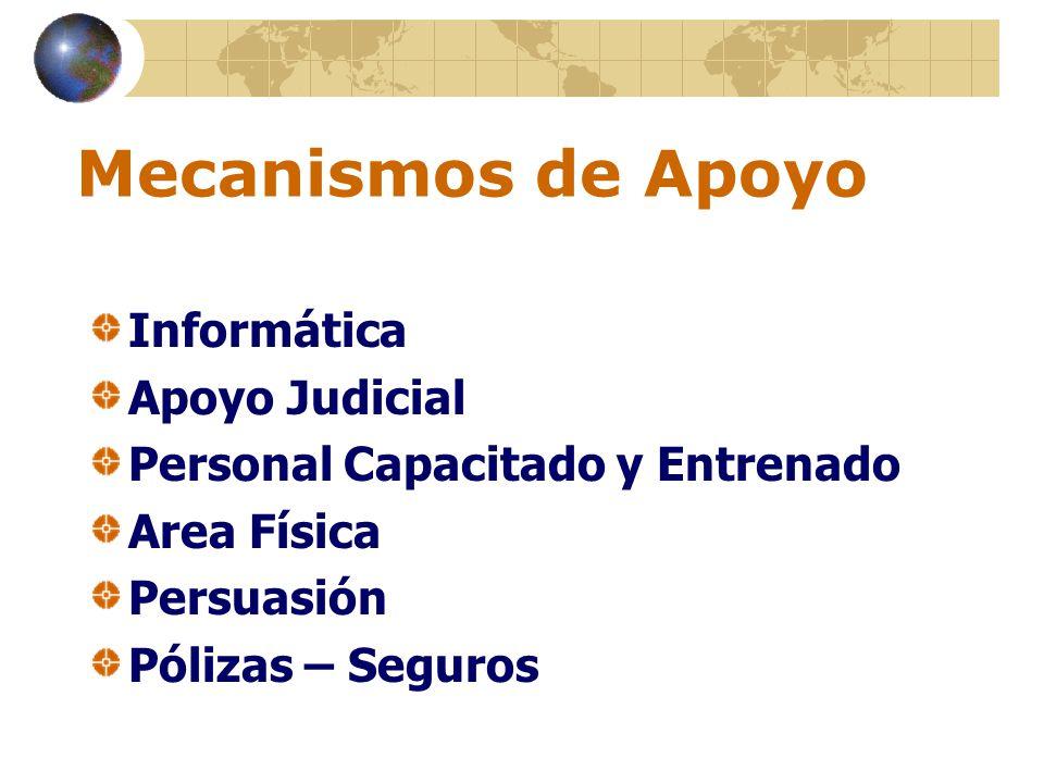Mecanismos de Apoyo Informática Apoyo Judicial