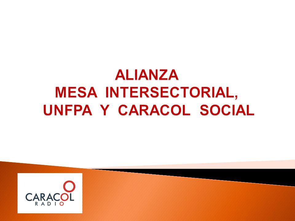 ALIANZA MESA INTERSECTORIAL, UNFPA Y CARACOL SOCIAL