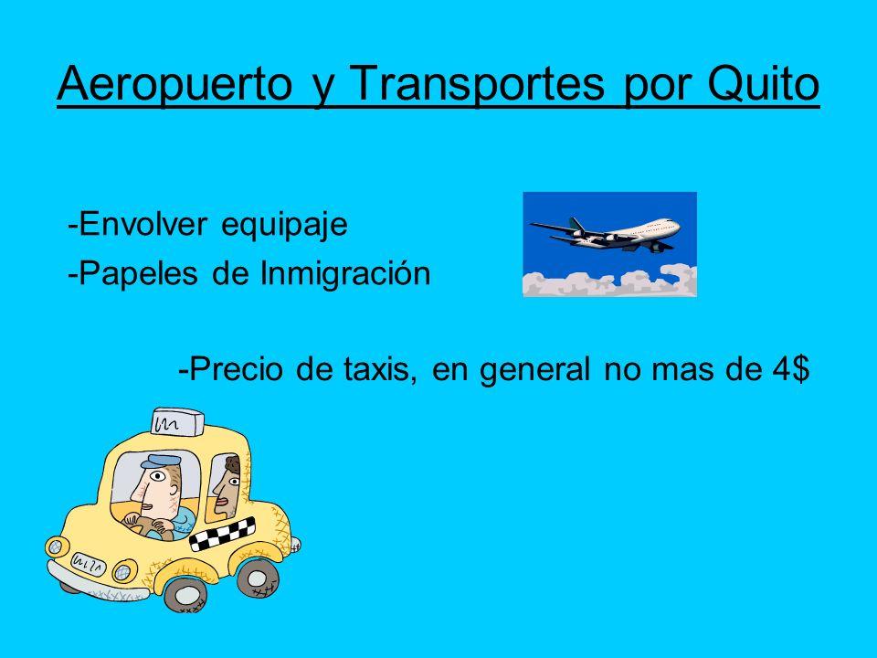 Aeropuerto y Transportes por Quito