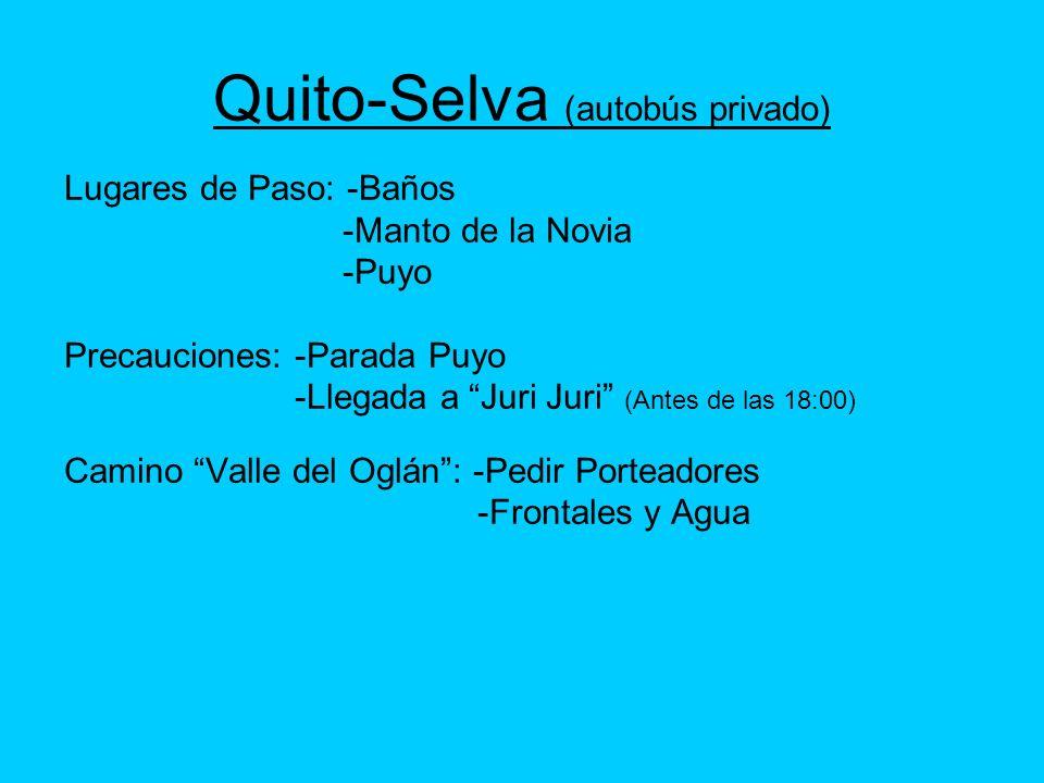 Quito-Selva (autobús privado)