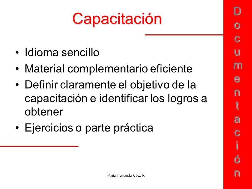 Capacitación Idioma sencillo Material complementario eficiente