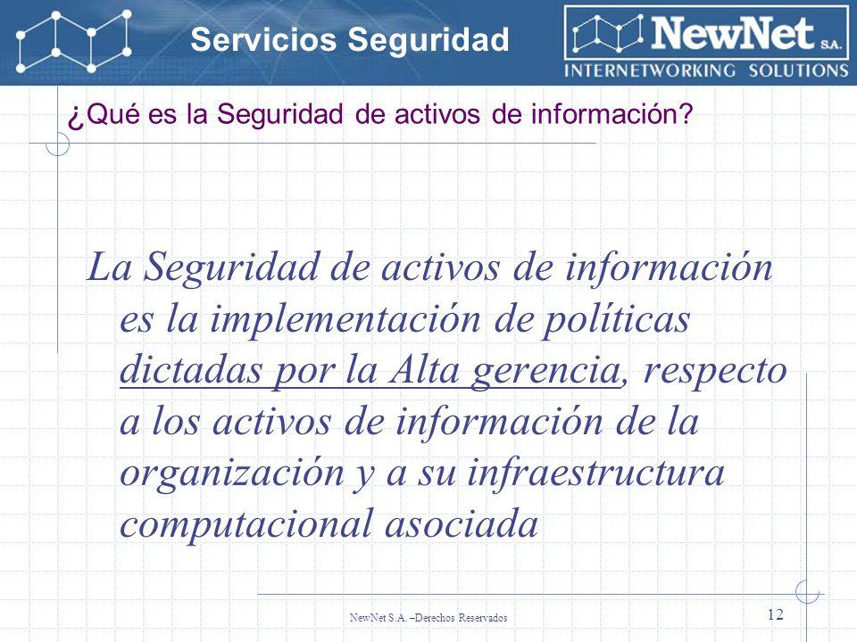 ¿Qué es la Seguridad de activos de información