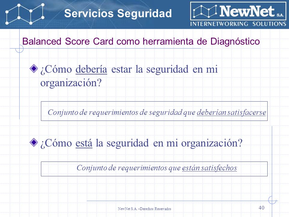 Balanced Score Card como herramienta de Diagnóstico