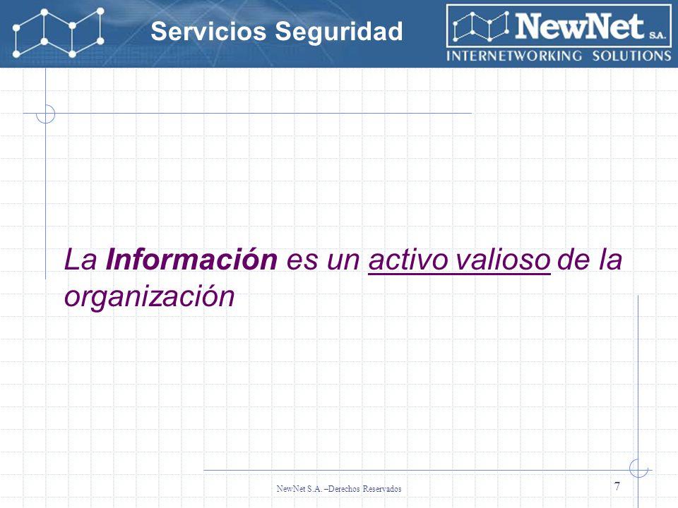 La Información es un activo valioso de la organización