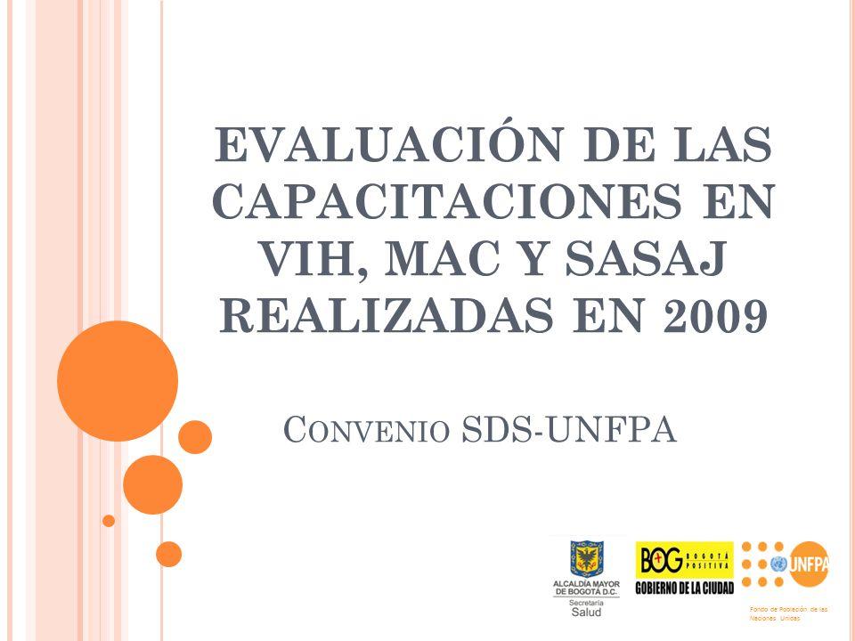 EVALUACIÓN DE LAS CAPACITACIONES EN VIH, MAC Y SASAJ REALIZADAS EN 2009