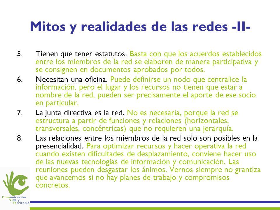 Mitos y realidades de las redes -II-