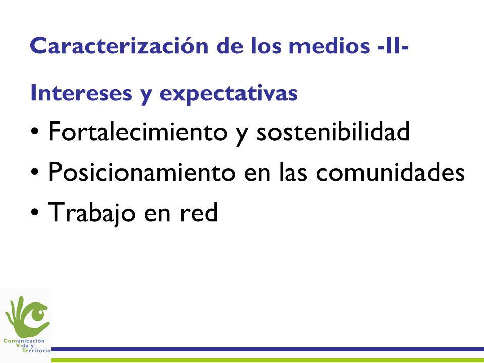 Caracterización de los medios -II-