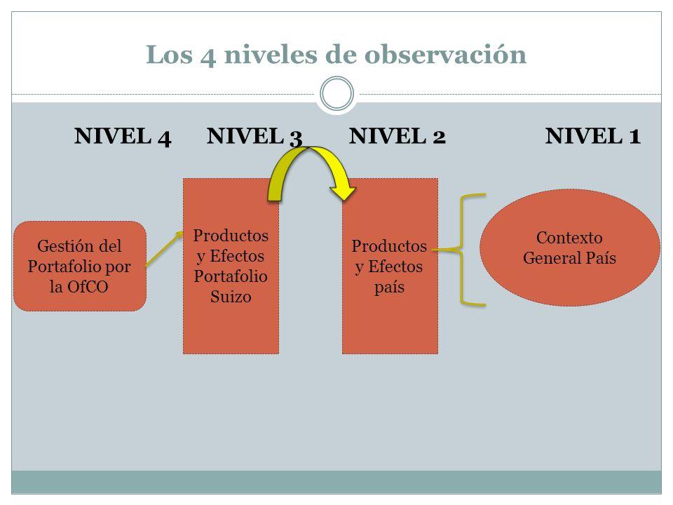 Los 4 niveles de observación