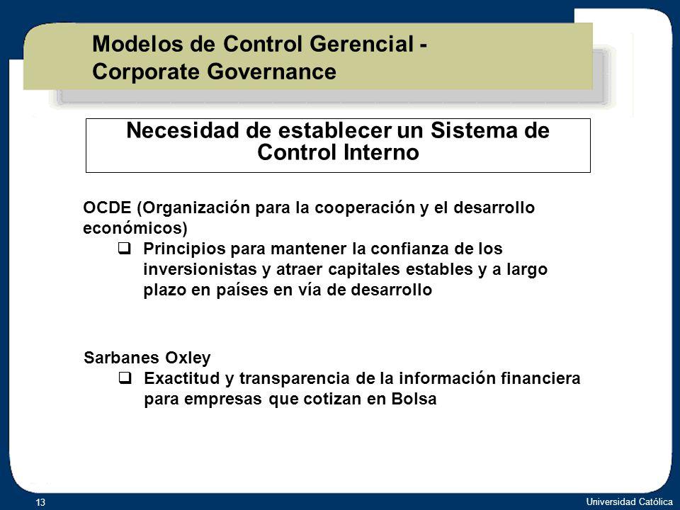 Modelos de Control Gerencial - Corporate Governance