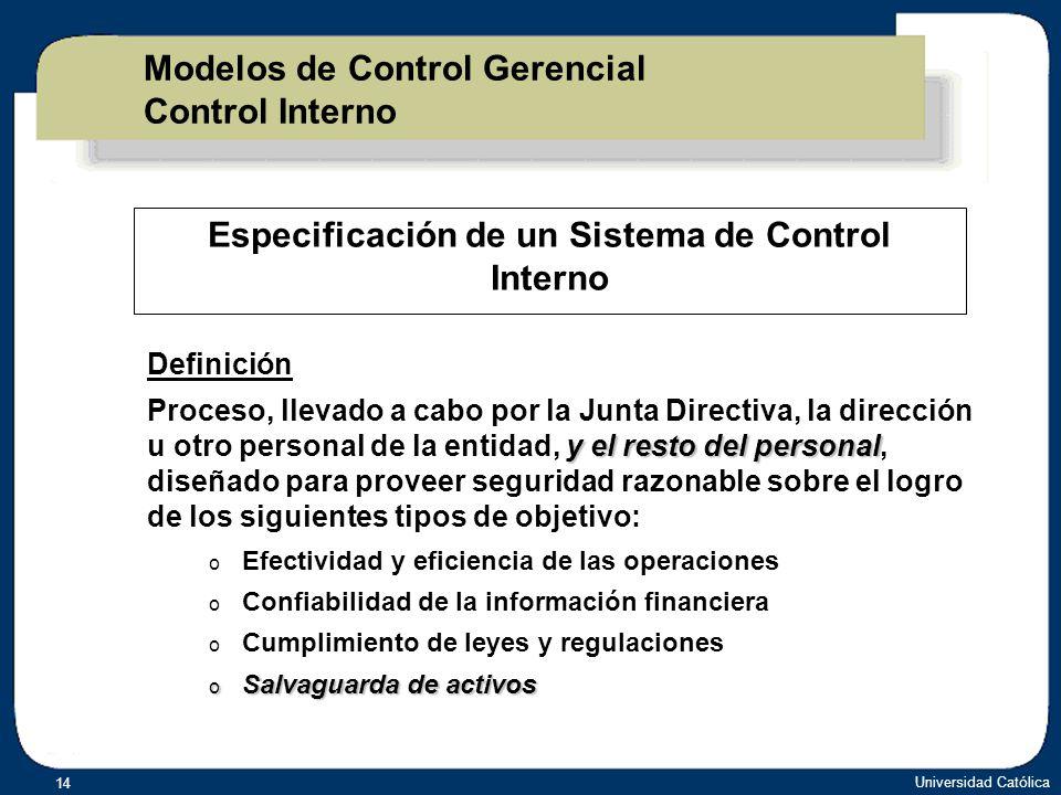 Modelos de Control Gerencial Control Interno