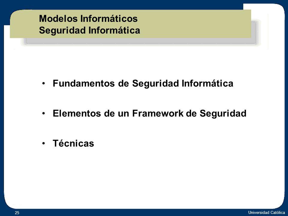 Modelos Informáticos Seguridad Informática