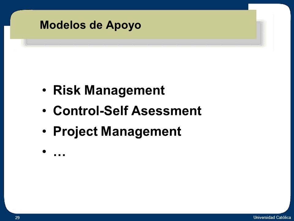 Control-Self Asessment Project Management …