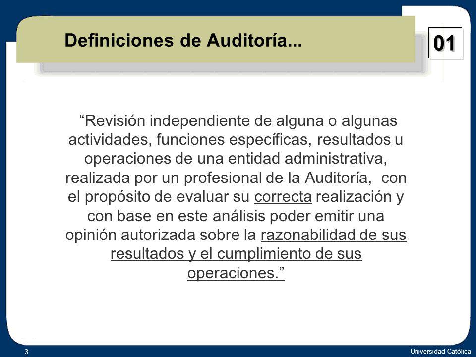 Definiciones de Auditoría...