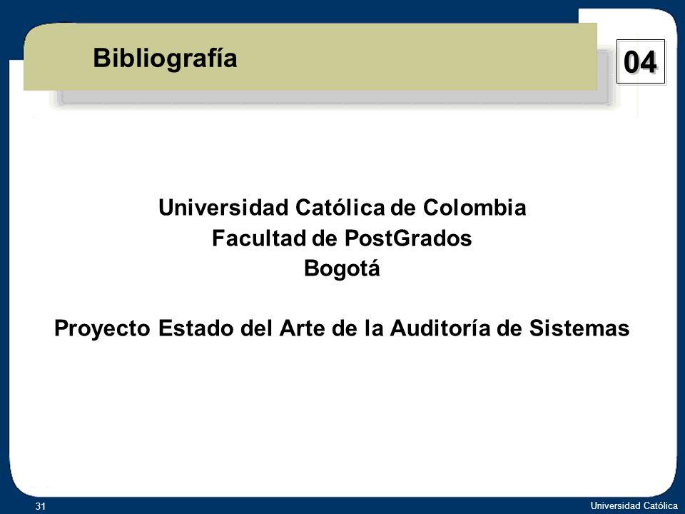 04 Bibliografía Universidad Católica de Colombia