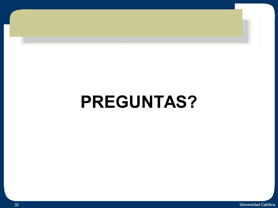 PREGUNTAS Universidad Católica