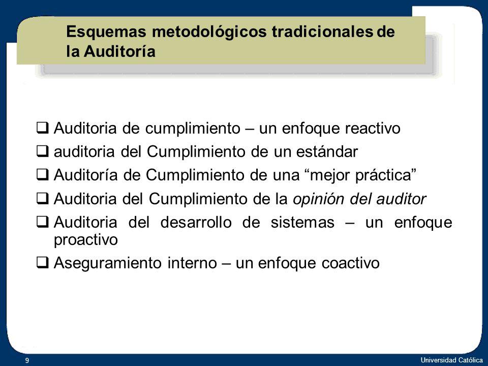 Esquemas metodológicos tradicionales de la Auditoría