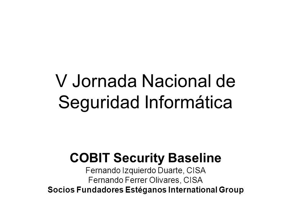 V Jornada Nacional de Seguridad Informática