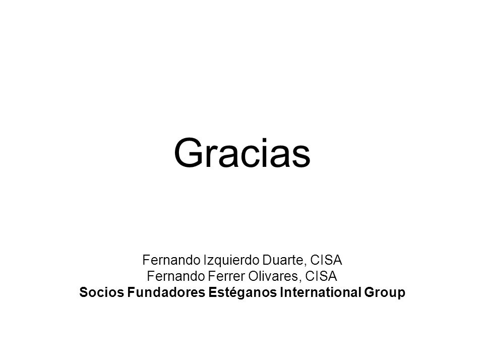 Socios Fundadores Estéganos International Group