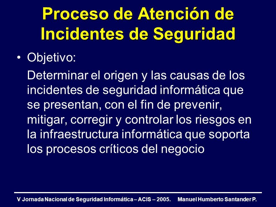 Proceso de Atención de Incidentes de Seguridad