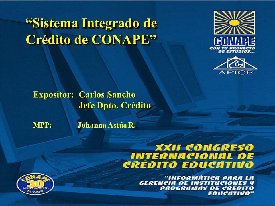 Sistema Integrado de Crédito de CONAPE