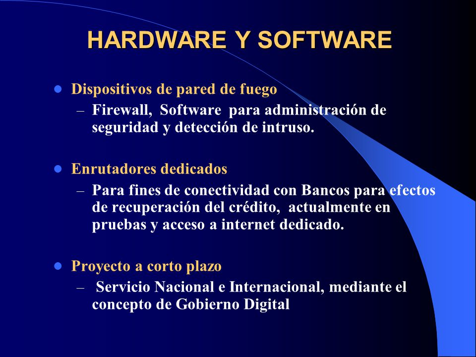 HARDWARE Y SOFTWARE Dispositivos de pared de fuego