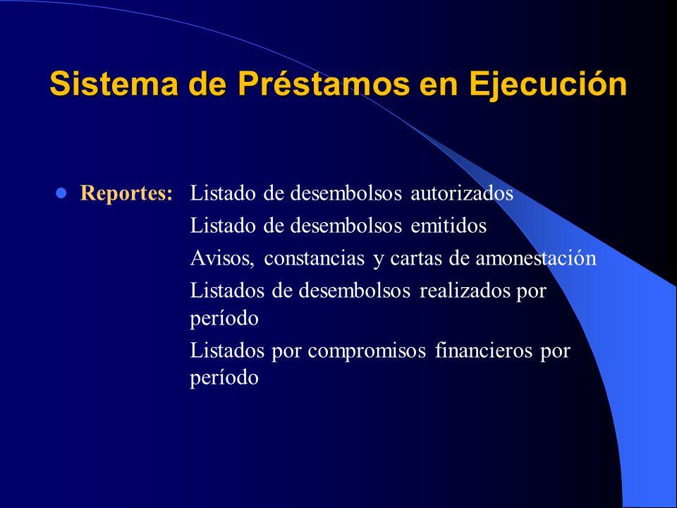 Sistema de Préstamos en Ejecución