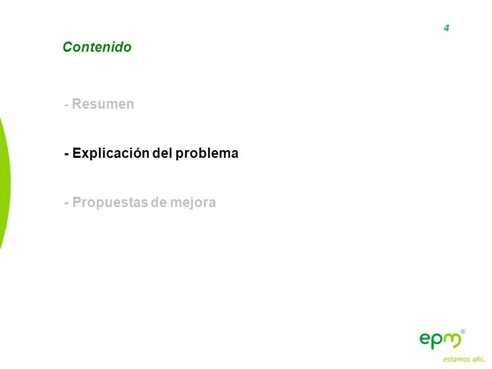 - Explicación del problema