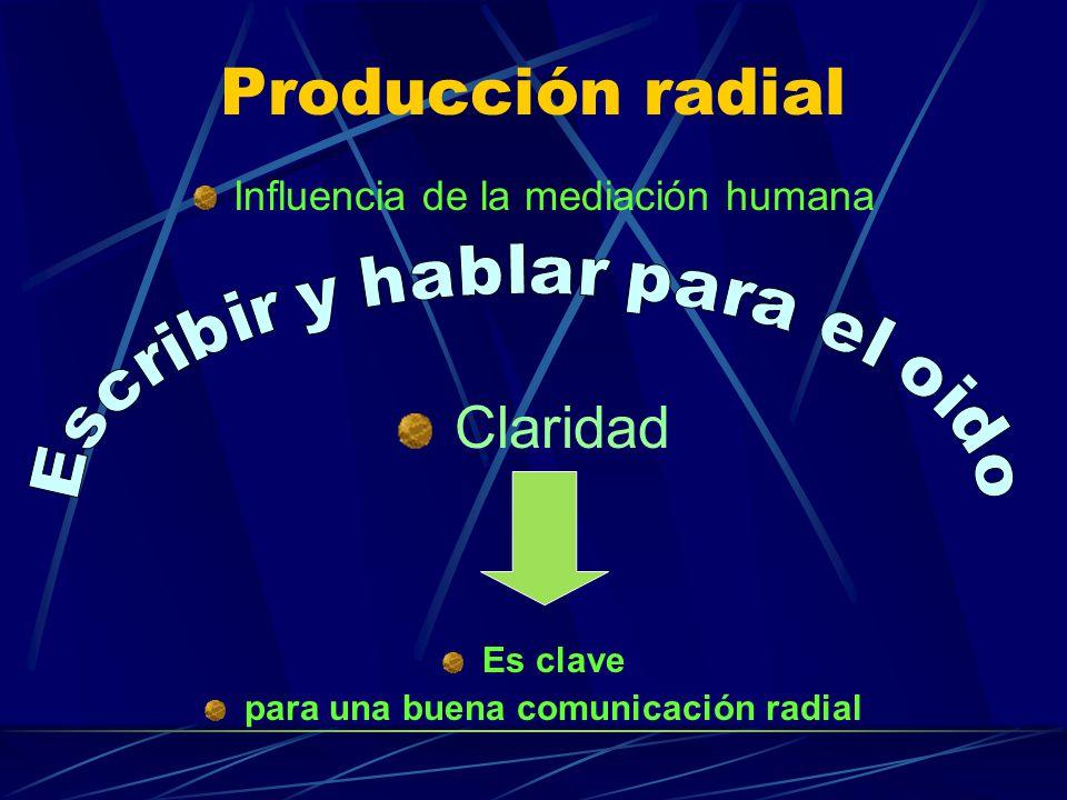 para una buena comunicación radial