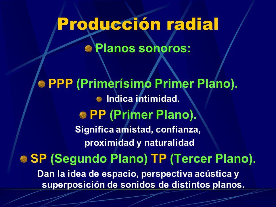 Producción radial Planos sonoros: PPP (Primerísimo Primer Plano).